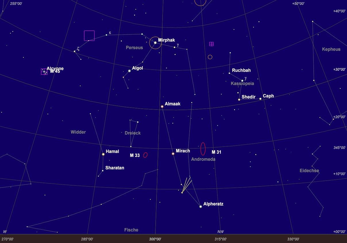 Aktuelle Aufsuchkarte Komet Panstarrs